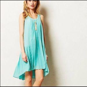 Anthropologie Maeve Fluttered Mint Dress